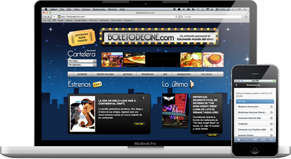 Mobile Websites Panama — Boletodecine.com