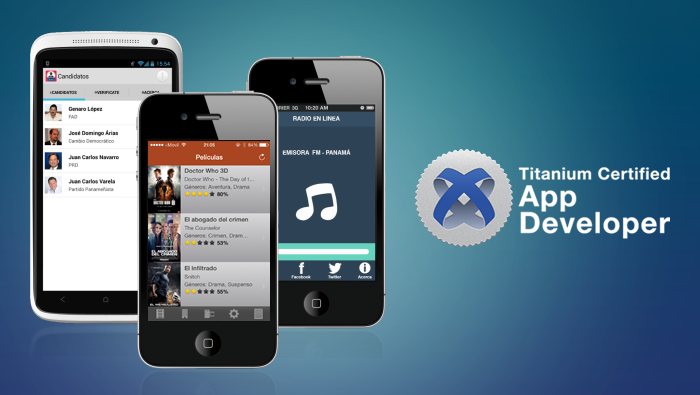"Certificados con la ""Titanium Certified App Developer"""
